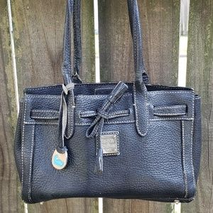 Dooney & Bourke black leather tote